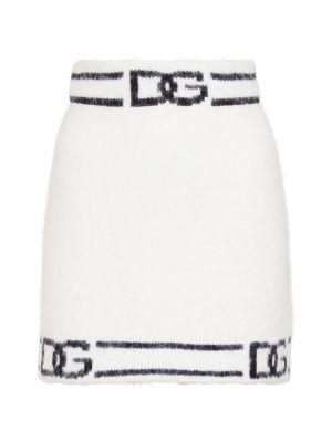 Spódnica wełniana - biała Dolce And Gabbana