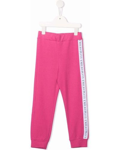 Joggery - różowe Emilio Pucci Junior