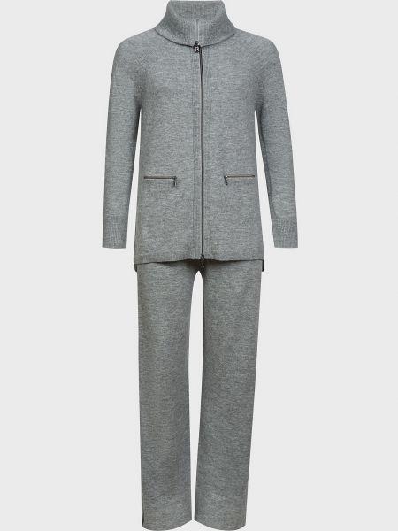 Шерстяной серый спортивный костюм на молнии Bogner
