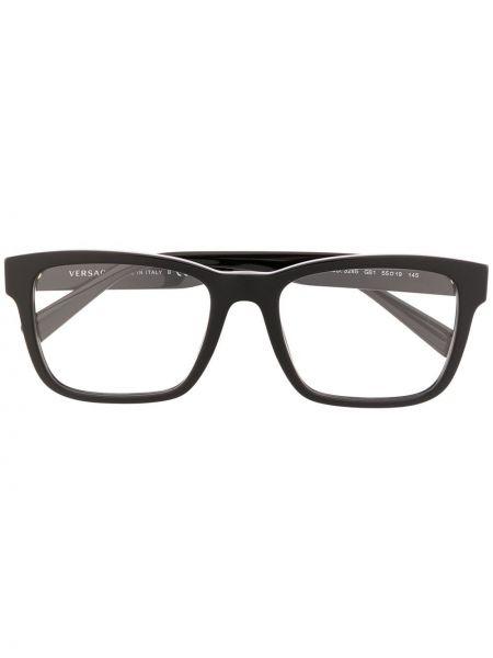 Прямые черные очки для зрения квадратные Versace Eyewear