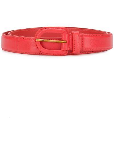 Ремень красный с пряжкой Prada