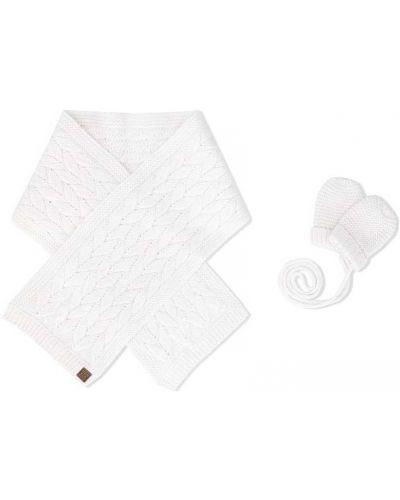 Bawełna akryl biały szalik z łatami Tartine Et Chocolat