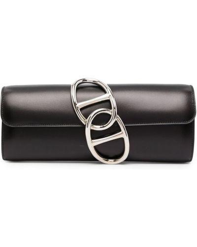 Kopertówka srebrna - czarna Hermes