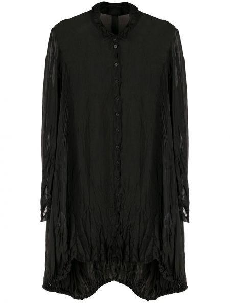 Платье на пуговицах оверсайз прозрачное с воротником Rundholz