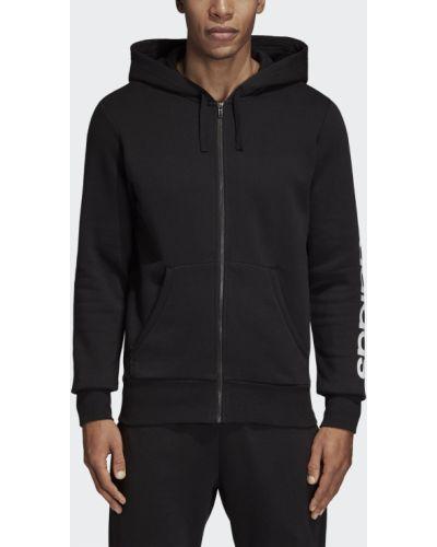 Толстовка с капюшоном черная Adidas