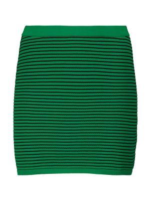 Зеленая юбка в полоску Tropic Of C
