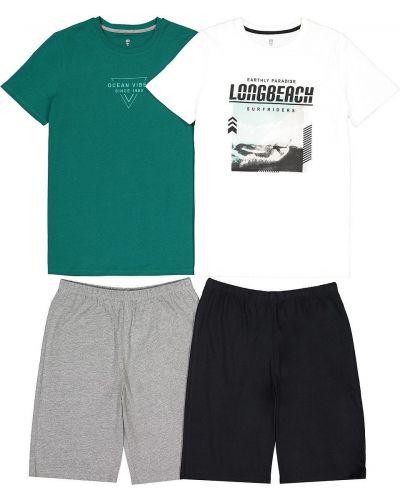 Хлопковая домашняя пижама с шортами с короткими рукавами Laredoute