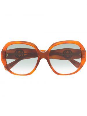 Солнцезащитные очки круглые золотые оверсайз Gucci Eyewear