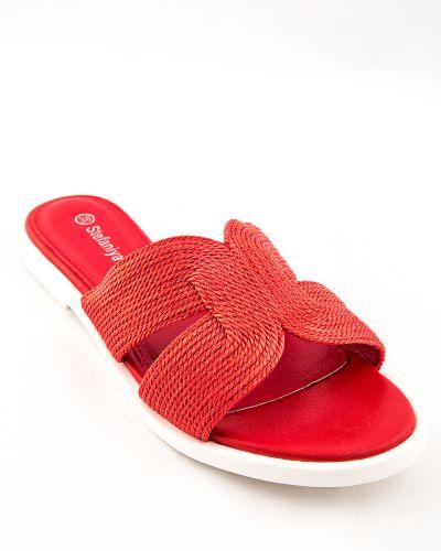 Текстильные красные туфли Stefaniya Nina
