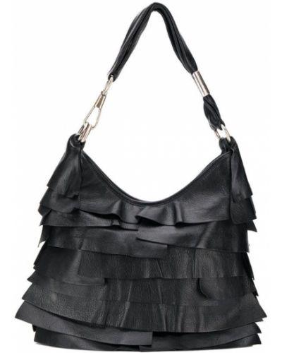 Кожаная сумка - черная Yves Saint Laurent Vintage
