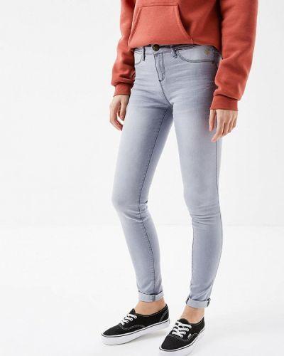 Серые джинсы-скинни Desigual