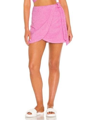 Różowa spódnica kopertowa bawełniana Atoir
