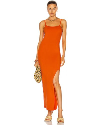 Pomarańczowa sukienka z nylonu Simon Miller