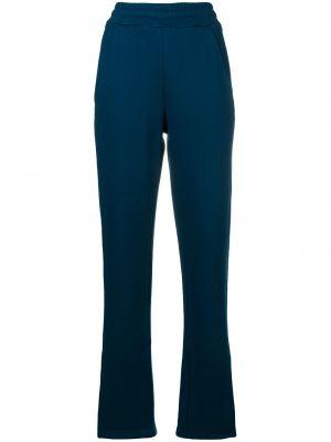 Хлопковые синие спортивные брюки с воротником с карманами Walk Of Shame
