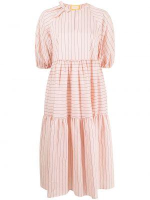 Хлопковое платье миди - розовое Erdem