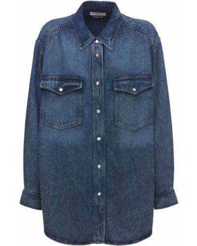 Синяя рубашка оверсайз Isabel Marant Étoile