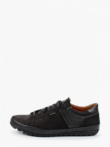 Черные кроссовки из нубука Wojas