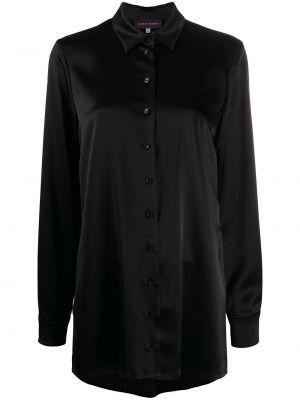 Классическая с рукавами черная классическая рубашка с воротником Talbot Runhof