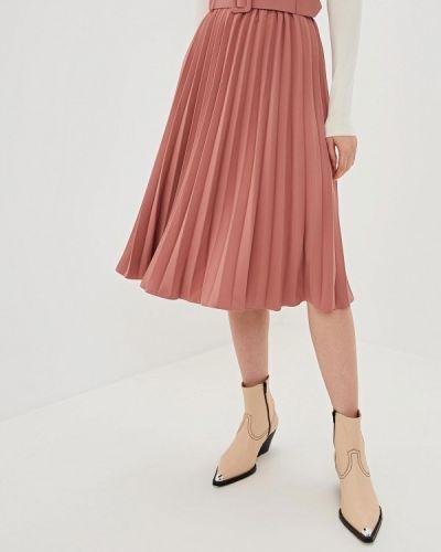 Плиссированная юбка итальянский розовая Rinascimento