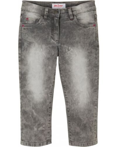Черные джинсы свободного кроя с поясом Bonprix