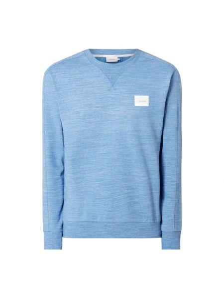 Bawełna bawełna niebieski bluzka z dekoltem Ck Calvin Klein