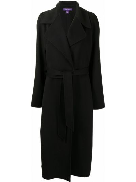Черный с рукавами тренчкот с поясом Ralph Lauren Collection