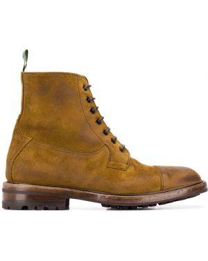 Коричневые кожаные ботинки Green George
