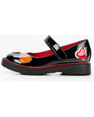 Лаковые кожаные черные туфли Betsy