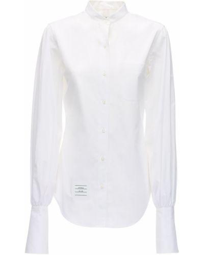 Рубашка в полоску с пышными рукавами Thom Browne