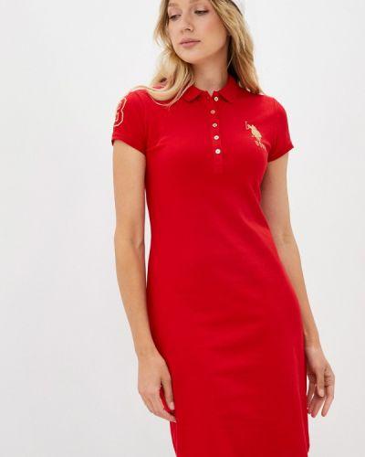 Платье - красное U.s. Polo Assn.
