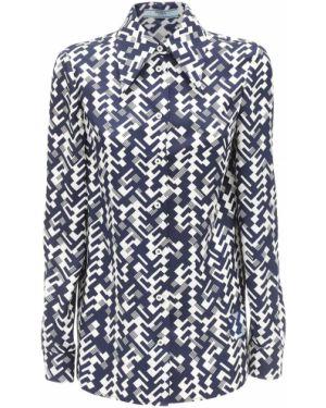 Рубашка с воротником с манжетами на кнопках Prada