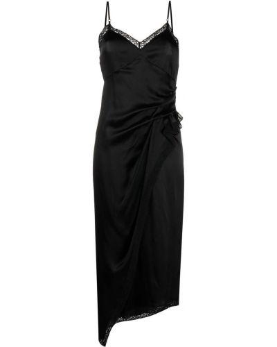 Sukienka koronkowa z dekoltem w serek - czarna Alexander Wang