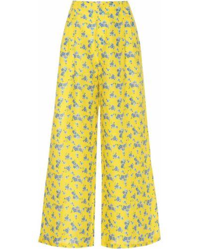 Желтые льняные брюки Gül Hürgel