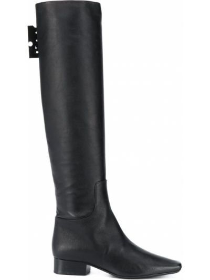 Czarny wysoki buty z prawdziwej skóry Off-white