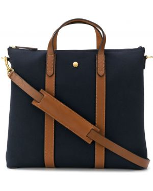 Синяя кожаная сумка Mismo