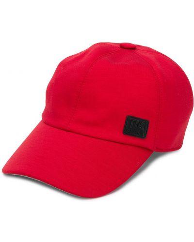 Красная хлопковая кепка с нашивками эластичная Ermenegildo Zegna