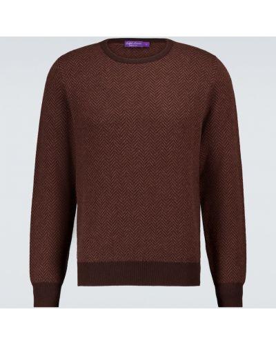 Мягкий сиреневый кашемировый свитер Ralph Lauren Purple Label
