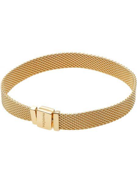 Золотой браслет позолоченный серебряный Pandora