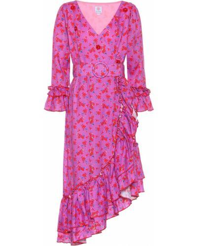 Фиолетовое льняное платье Gül Hürgel