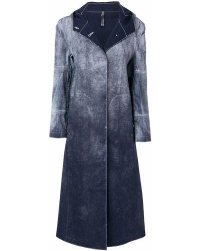 Синее пальто с капюшоном на пуговицах 1017 Alyx 9sm