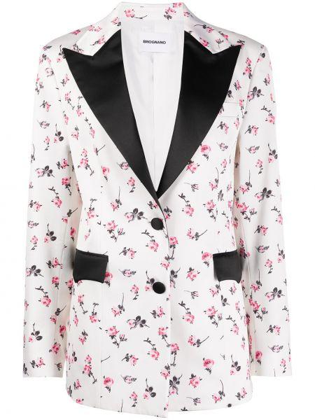 Хлопковая белая куртка с лацканами на пуговицах Brognano