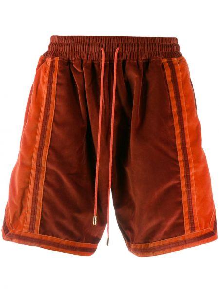 Pomarańczowe krótkie szorty bawełniane Just Don