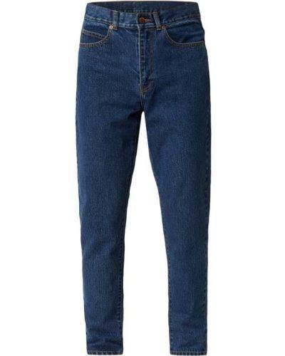 Mom jeans bawełniane - niebieskie Dr. Denim