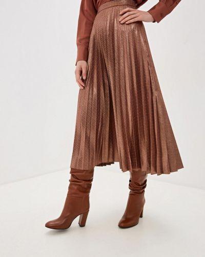 Плиссированная юбка коричневый Mango