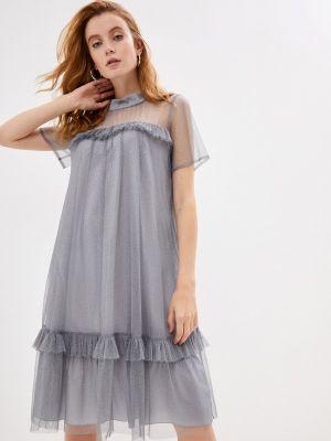 Серое вечернее платье Vera Moni