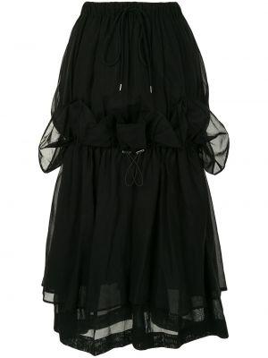 Bawełna bawełna czarny spódnica z falbankami Enfold