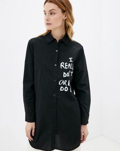 Рубашка с длинным рукавом - черная Zabaione