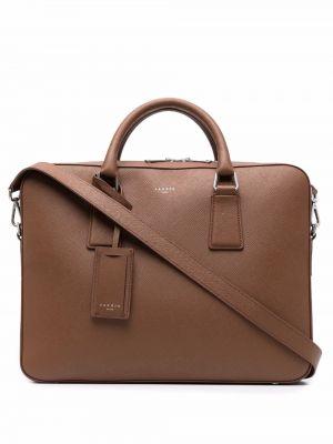 Коричневый портфель с карманами Sandro Paris