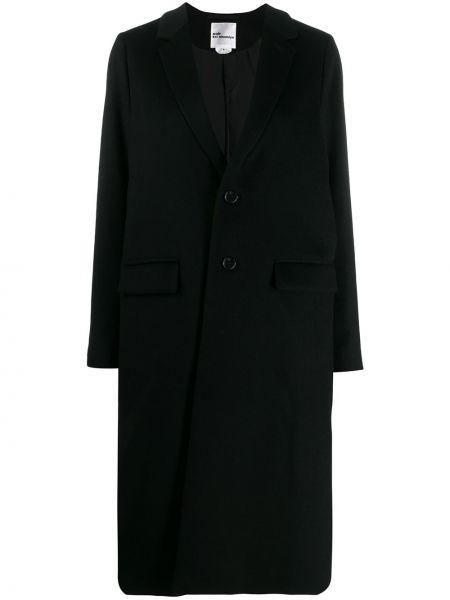 Однобортное черное длинное пальто с капюшоном Comme Des Garçons Noir Kei Ninomiya