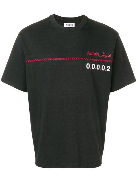 Черная футболка Adish